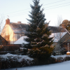 Farmhouse-snow
